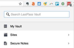 Using LastPass password protector