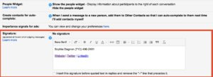 Creating a custom email signature in Gmail