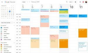 What Google Calendar 2018 looks like