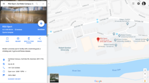 Enter your destination in Google Maps