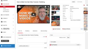 video tutorials for YouTube: YouTube SEO
