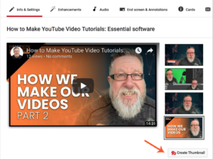 video tutorials for YouTube: creating a thumbnail