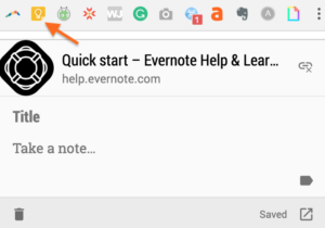 useful browser extensions-- Google Keep