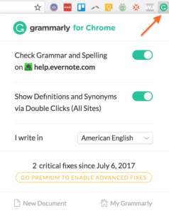 useful browser extensions-- Grammarly