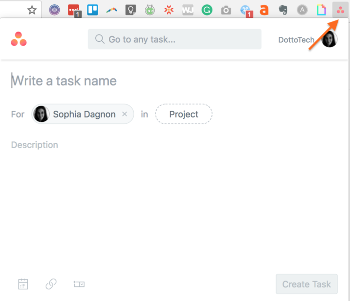 useful browser extensions-- Asana