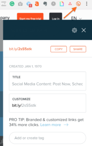 useful browser extensions-- Bitly