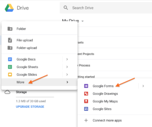 Using Google Forms