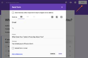 Sharing a Google Form