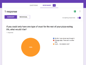 Google Forms-- Collecting the answers
