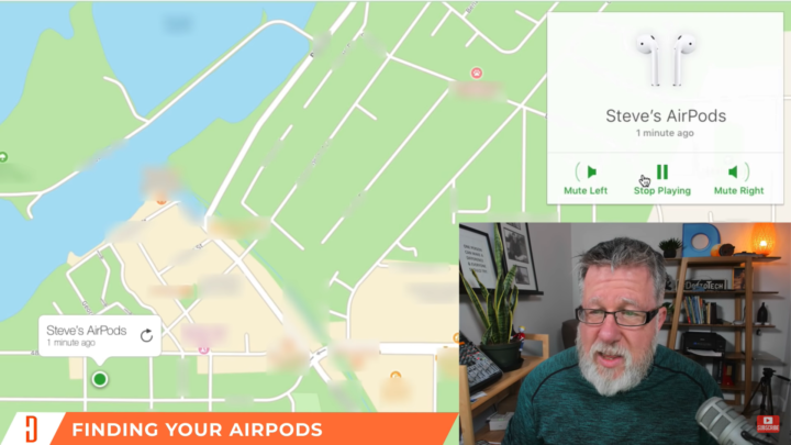 Locating Airpods with Find My iPhone