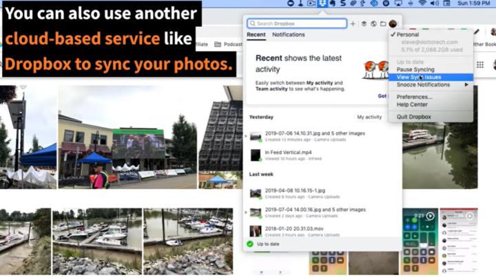 google photos and dropbox