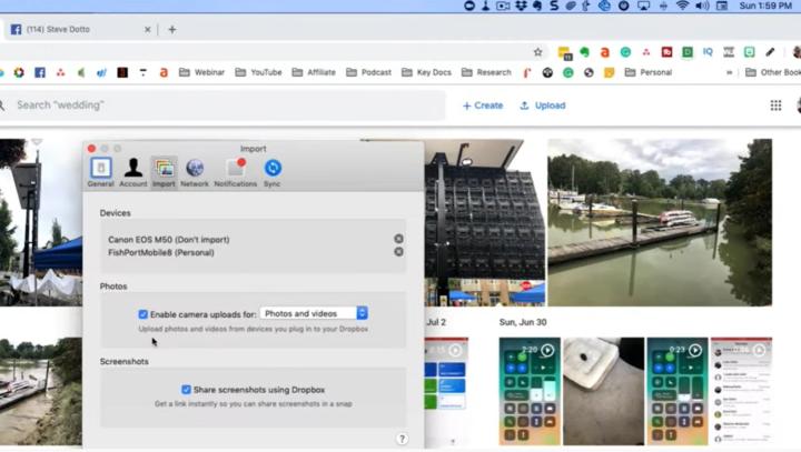 google photos sync with dropbox