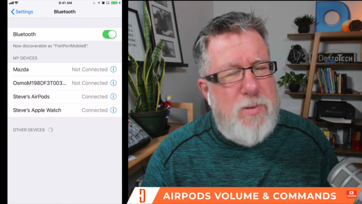 Airpods volume and commands