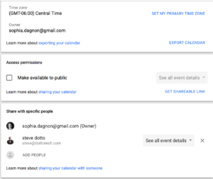 how to make google agenda public